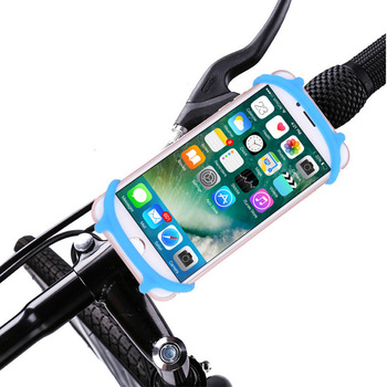 2019 silicone new product navigation mobile phone bracket mountain crawling shockproof mobile phone bracket bicycle phone clip