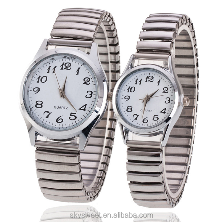 Hot Sale Digital elderly Wrist Watch Spring Band Old Men Women Couple Watch(SWTM1052)