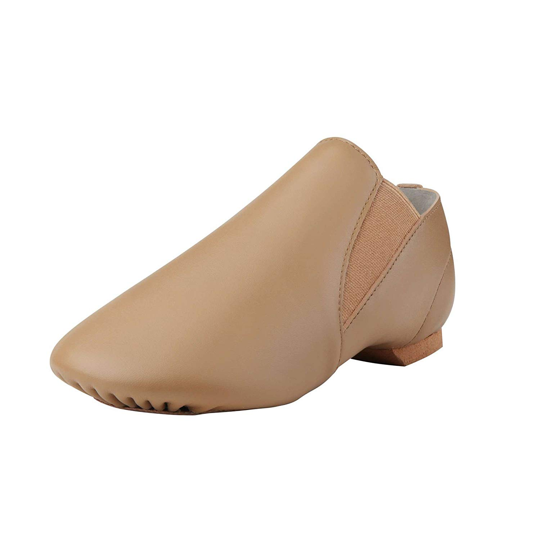 1eb842d8b39 Dynadans Jazz Shoe Leather Slip On with Elastics (Big Kid Little Kid Toddler )