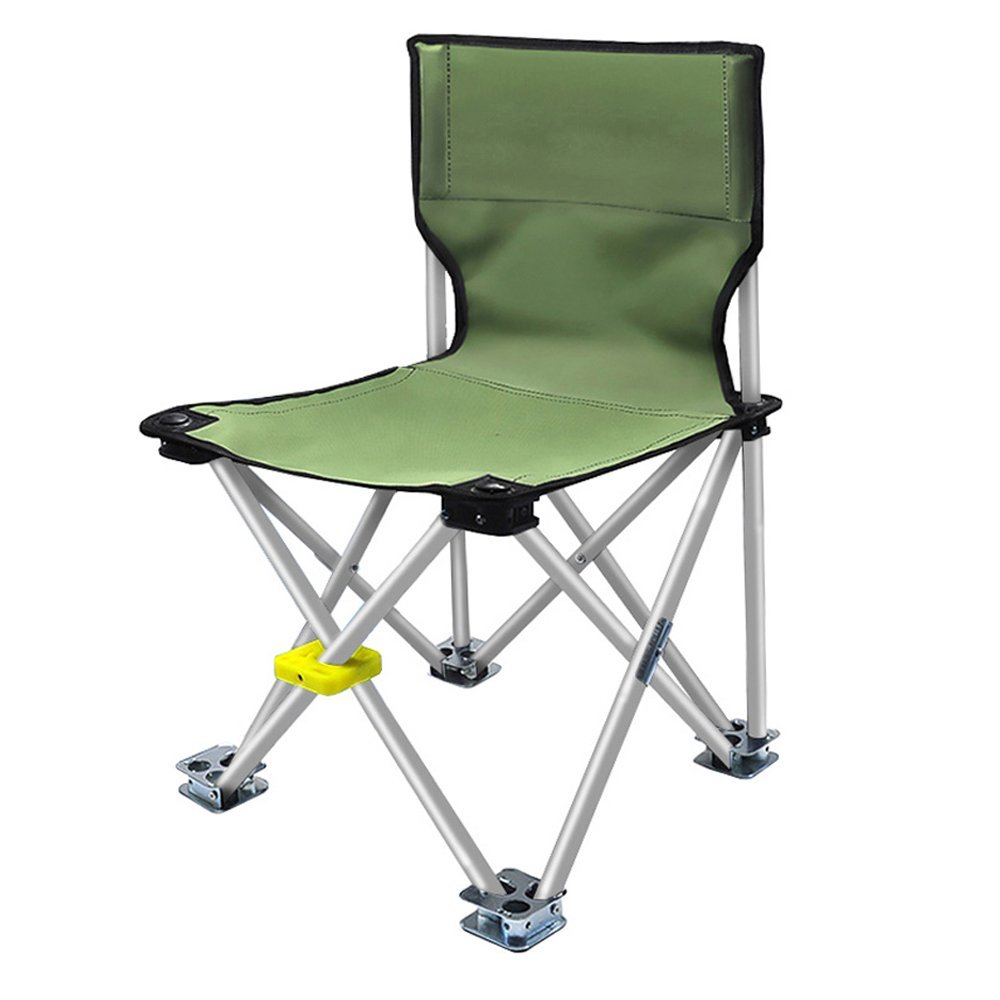 QYC Outdoor Ultra Light Portable Multifunctional Folding Chair Fishing Chair, Beach Chair, Camping Chair, Military Green