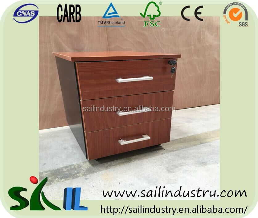 Environmental Health Wooden Grain Color Design Bedside Table