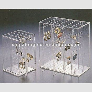 Clear Acrylic Earring Keeper Organizer Case File