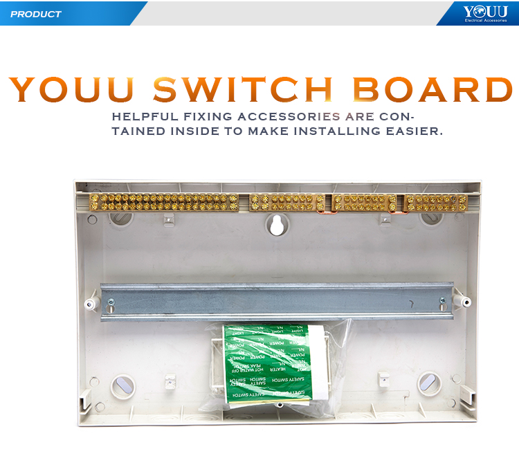 YOUU Australia White Distribution Box Surface Mounting Switchboard 18 Way Electrical Enclosure SMS-18