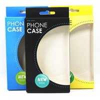 paper box for phone case packaging with PET window