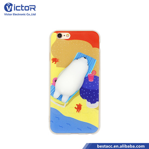 Alibaba china market squishy phone case silicone cat TPU cover for iphone 6