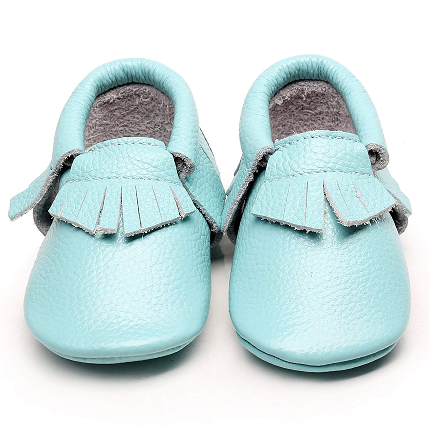 b73b5a06d442 Get Quotations · WAZZIT Leather Baby Moccasins Boys Girls Crib Toddler Shoes  Soft Sole Tassels Prewalker