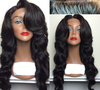 Wholesale glueless lace wig body wave middle part brazilian hair full lace wig with baby hair / Lace front wig