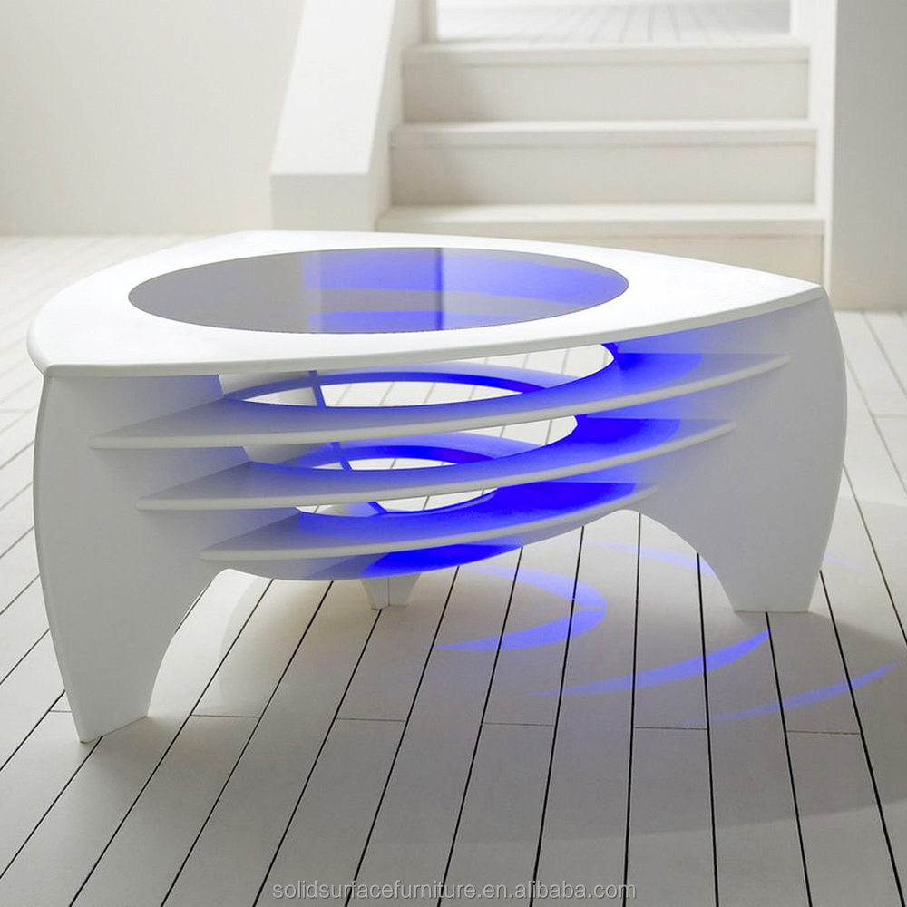 Light up coffee table living room center table design for Center table design for office