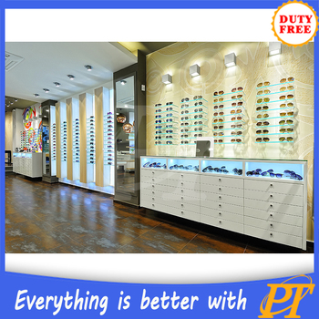 Merveilleux Glass Display Cabinet For Eyeglasses, Optical Showroom Counter Design,  Sunglasses Display With Lock