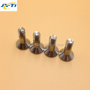 CNC machining Ti6AL4V Ti Hex Countersunk Bolts flat head bolt