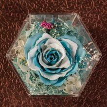 Hexagon Shaped Clear Acrylic Flower Box for Gift