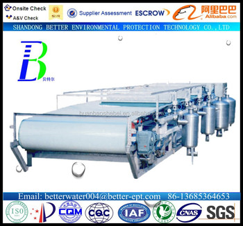 dewatering device vacuum belt filter sewage disposal facility