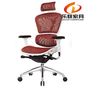North American market ergonomic office seating purple desk mesh chair with back support
