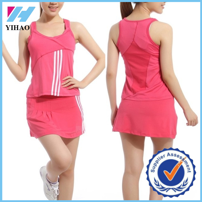 Yihao Custom Women Casual Sportswear Tennis Tracksuit Fitness Clothing Wholesale 2015