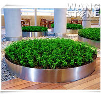 Stainless Steel Outdoor Large Metal Circle Flower Planter