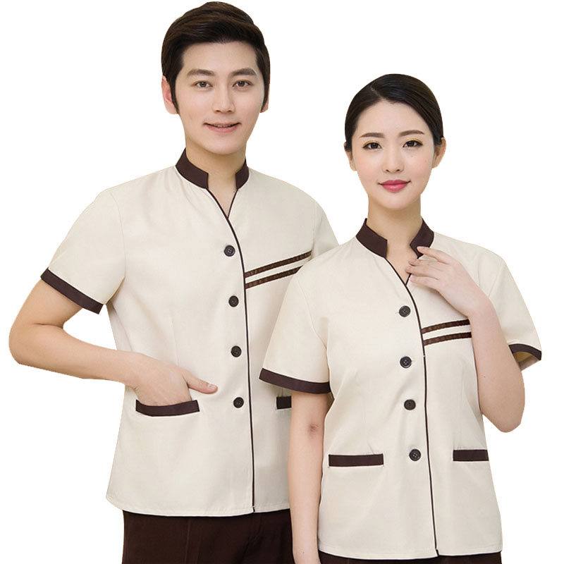 Hotel Waiter Uniform Clothes Waiter บริการทำความสะอาด Uniform Hotel Service Tunic