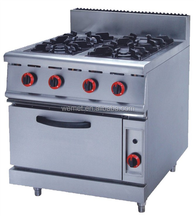 4 Burner Gas Stove With Oven Range