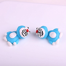 3MDD-001 Fox Cat Tiger Panda Cartoon Animal Polymer Clay Earrings