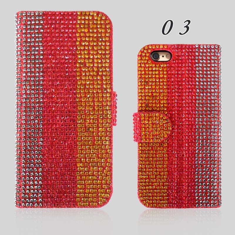Oem Smartphone Flip Leather Diamond Phone Case For Blu Life X8