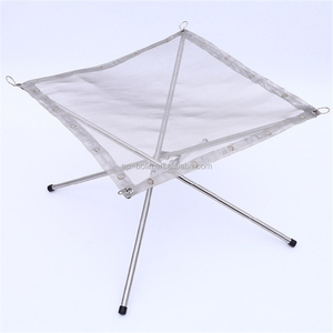 Portable Foldable Camping Burning Stand Stainless Steel Mesh Outdoor Wood Holder Fire Pit