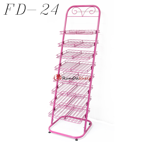 RD-FD-24 Free Standing Su Ordine All'ingrosso Del Chiodo display polish filo cremagliera