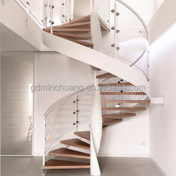 High End Spiral Staircase Stair Parts Steel Wood Floating Stairs   Buy Used  Spiral Staircase,Oak Spiral Staircase,Floating Stairs Wood Product On ...