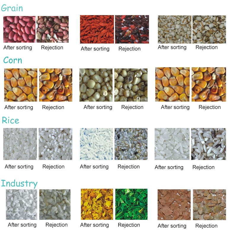 High efficiency best price grain color sorter/raisin color sorter machine