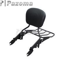 Pazoma High Quality Detachable Backrest Sissy Bar with Luggage Rack for 2009-2017 Harley Models with docking Hard
