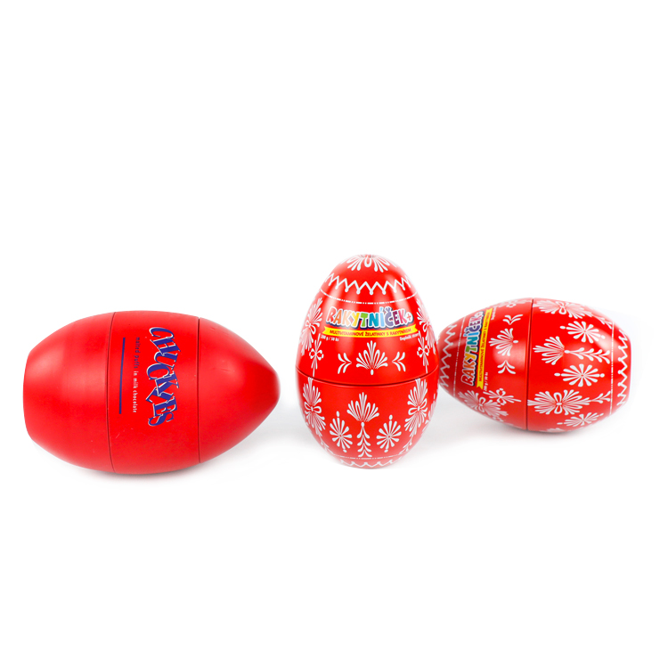 Food grade easter egg candy packing box egg shaped chocolate tin can