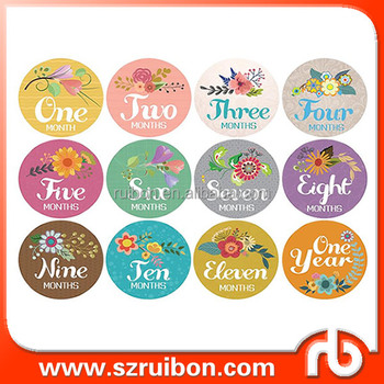 Existing Design 1 12 Months Baby Month Decoration Flower Stickers Monthly Milestone Sticker Baby First Year Gift Buy Baby Monthly Milestone Sticker Baby Month Stickers Baby Monthly Sticker Product On Alibaba Com