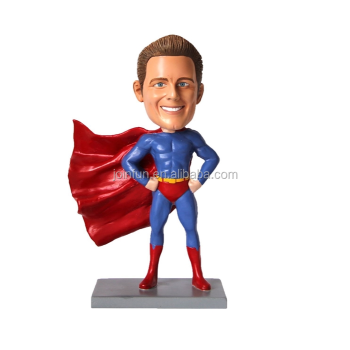 Customized Superman Bobble Head toys, customized plastic shake head superman bobblehead