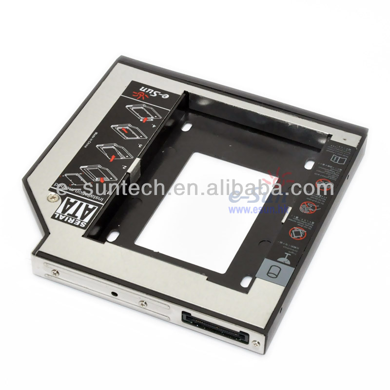 2.5 inch Second HDD enclosure replacement IDE to SATA 12.7mm hdd caddy