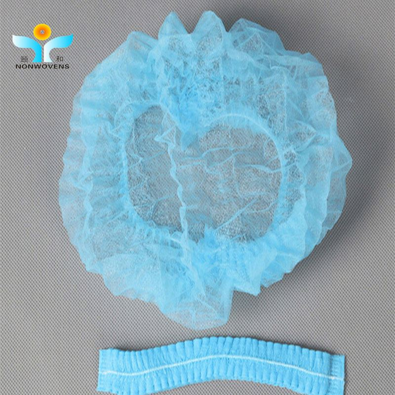 Disposable nonwoven mob cap/hair net/clip caps