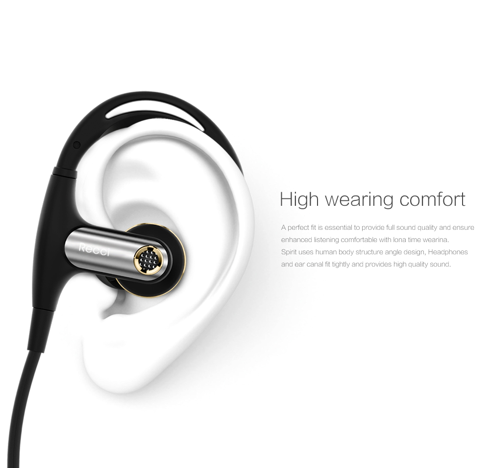 RECCI best wireless earphone, 2017 new stereo 4.1 Bluetooth headphone