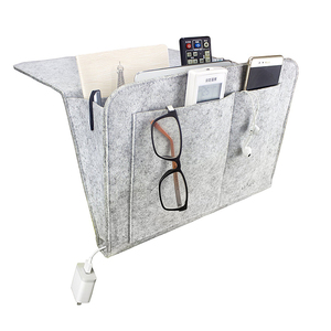 Hot selling Practical Felt Bedside Caddy Storage Organizer For Book, Laptop, Tablet, Phone