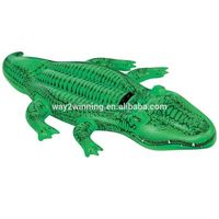 Inflatable Crocodile shape Float Bed Mattress Inflatable Floating Water Air Mattress row Swimming Float for Adult Kid