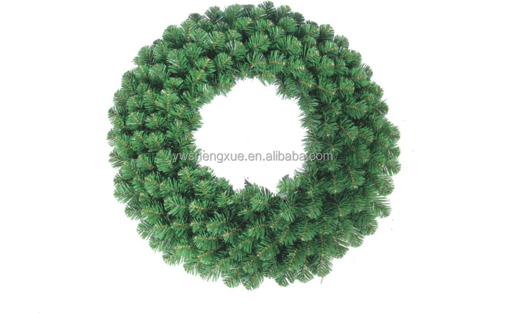 Wholesale festival decoration PVC artificial christmas garland wreath christmas decoration xmas wreath christmas wreath crafts