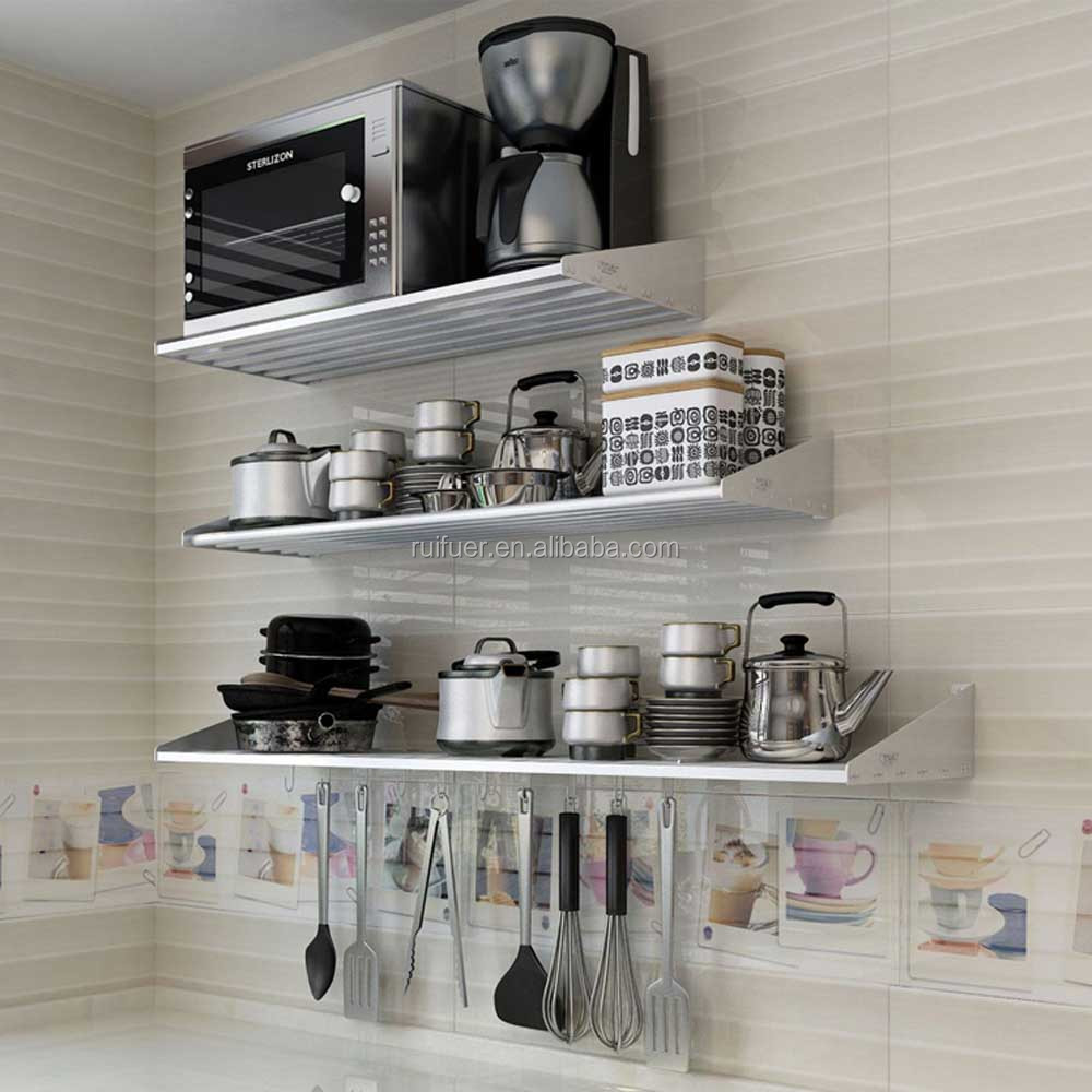 Strong Heavy Duty Wall Mounted Spice Rack Kitchen Wall