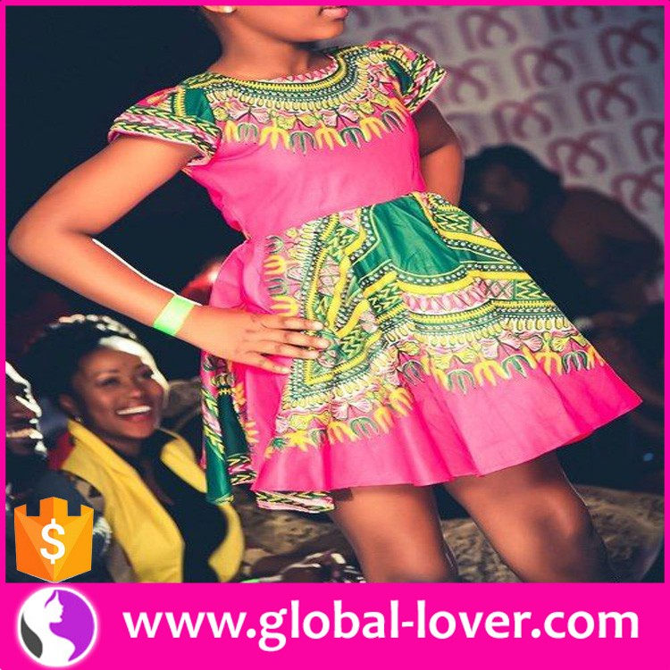 2016 lastest diseño 7-12 años impresa Africana Partido Nuevo Modelo ...