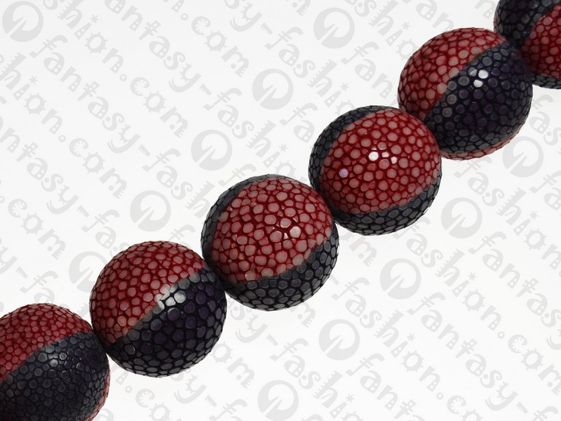 16pcs CP leather stingray pol red-purple 25mm round spacer beads for Bracelet Necklace IAS scrap price