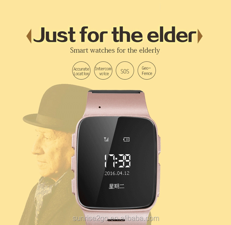China OEM D99 Elder GPS Smart Watch Wrist Watch 1.2 Inch HD SOS GPS LBS WIFI Bluetooth For Android / IOS