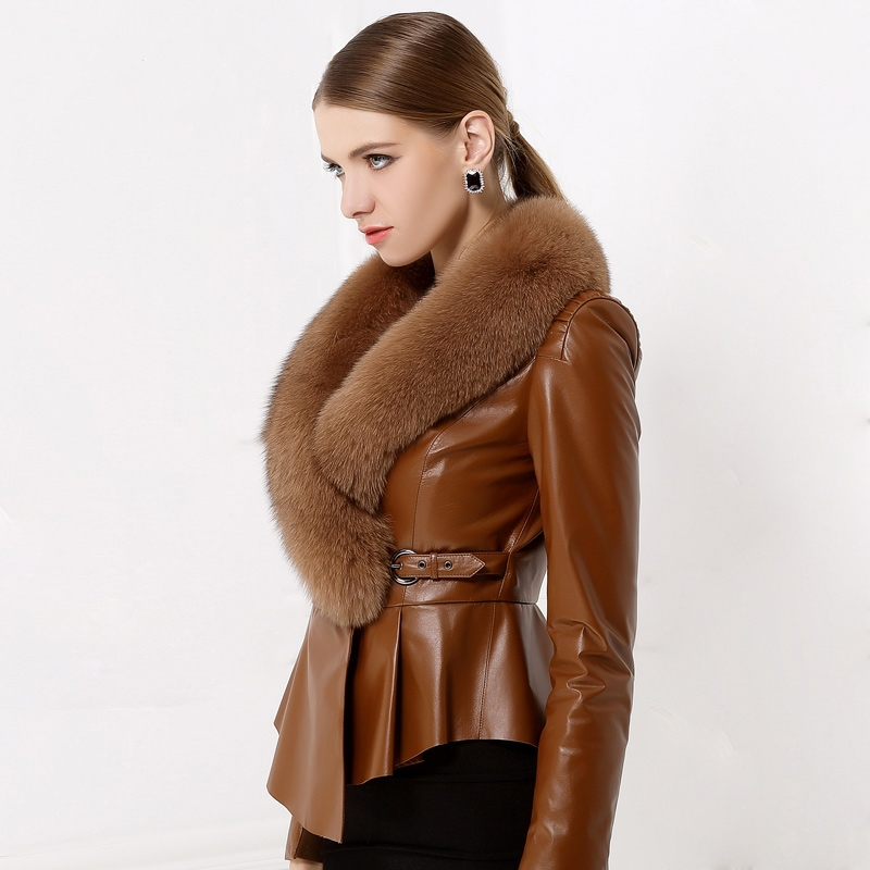 Buy Abrigo vison mujer genuine fur fluffy coat women's fur ...