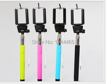 wholesale 100pcs/lot Self Portrait Selfie Stick photo Handheld Monopod Camera Phone Multi-Color