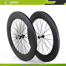 China cheapest and top quality 88mm clincher carbon bicycle wheels for promotion