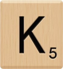 (10) GENUINE Scrabble Letter K Tiles, Lazar (Laser) Engraved, Scrabble for Crafts, Scrabble Game Piece K, 10 Letter K, HIGH Quality Hardwood, Individual Scrabble Tiles for Crafts, A to Z Scrabble Tiles