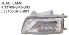 OEM 33100-SH3-B03 33150-SH3-B03 FOR HONDA CIVIC 90 Auto Car head lamp head light