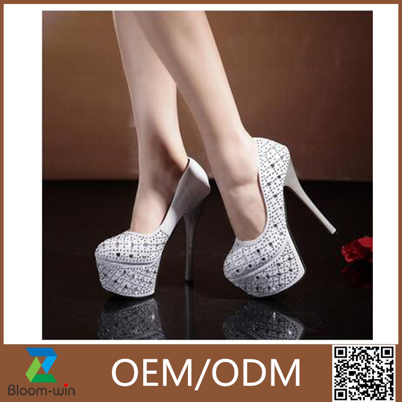 Wholesale Super high <strong>heels</strong> sexy 16cm with a fine diamond bride wedding shoes
