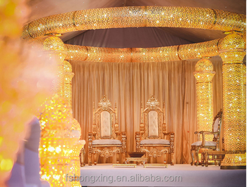2016 Hot Sale Gold Indian Wedding Stage Backdrop Decorations