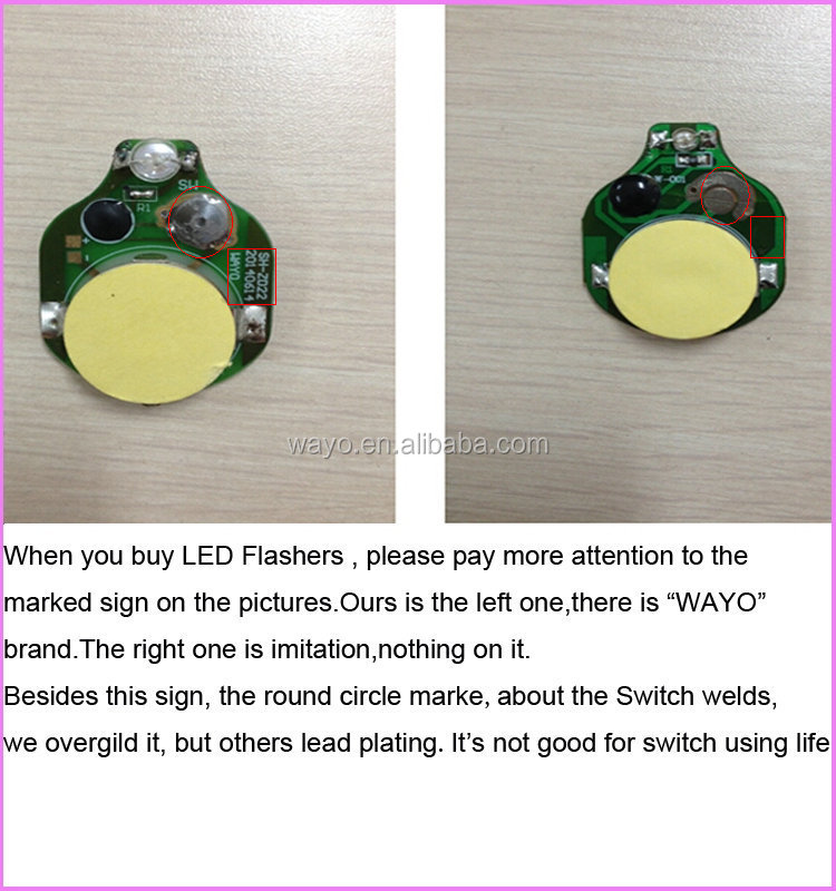 Single Red Color Flash Light Led/battery Operated Display Lights ...