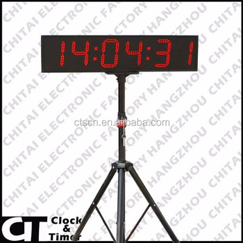 Giant Wall Clock With Tripod 8 Inch Big Time Double Sided Digital